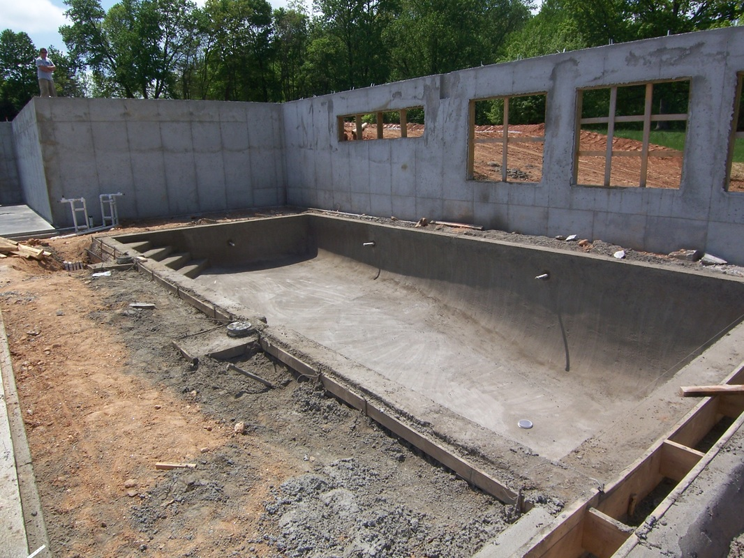 On site atlantic pools for Indoor swimming pool construction